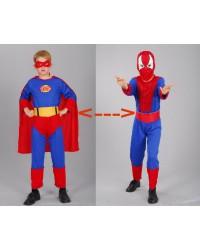 Карнавальный костюм Спайдермен супермен 2 в 1