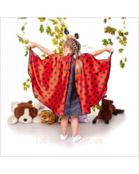 Карнавальное платье для девочки Божьей коровки
