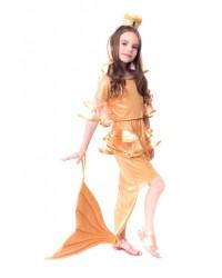 Карнавальный костюм Золотая рыбка Русалка Русалочка