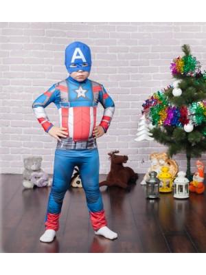 Карнавальный костюм супер героя Капитан Америка