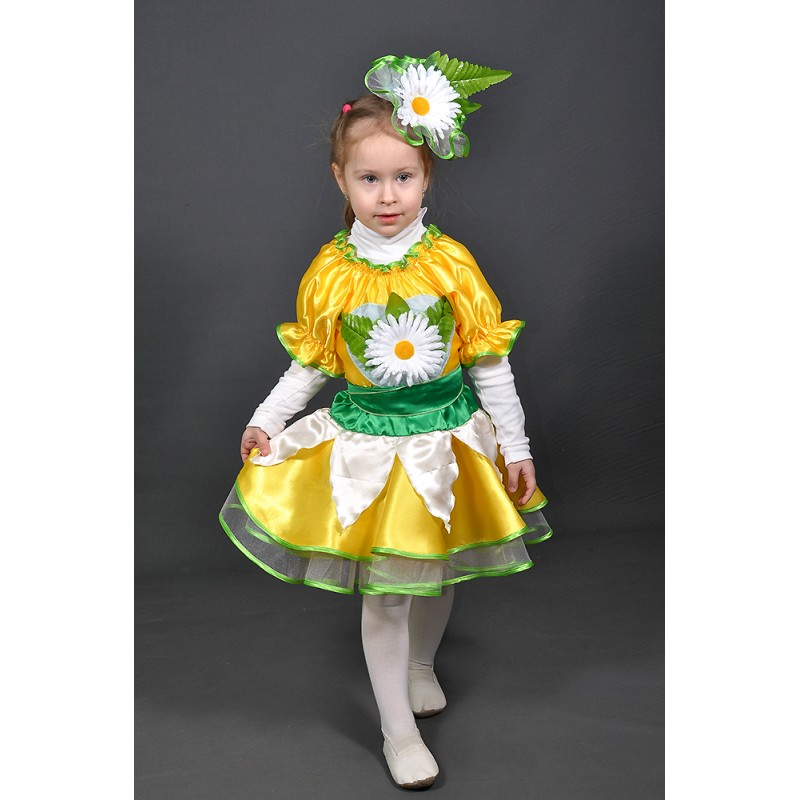 d20da1d375ae8 Детский карнавальный костюм Ромашка для девочьки