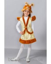 Детский карнавальный костюм Белочка Белка парча