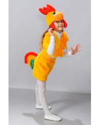 Детский карнавальный костюм Петушок желтый мех