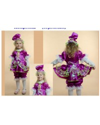 Карнавальный костюм Конфетка Хлопушка Игрушка сиреневая