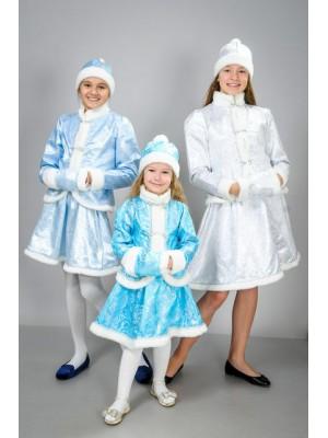 Детский карнавальный костюм Снегурочка Снегурка Хрустальная парча (30-40)