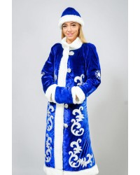 Карнавальный костюм Снегурочка Снегурка синий