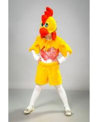 Детский карнавальный костюм Петушок парча