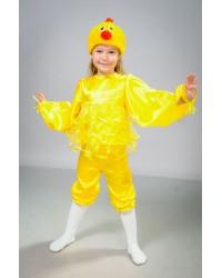 Детский карнавальный костюм Цыпленок атлас