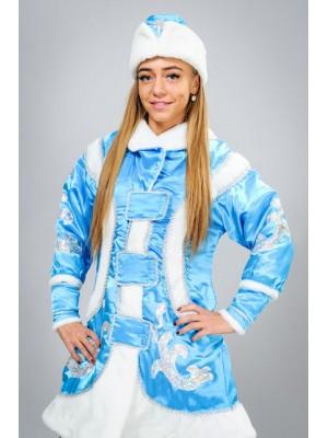 Карнавальный костюм Снегурочка Снегурка голубой