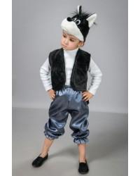 Детский карнавальный костюм Волк атлас