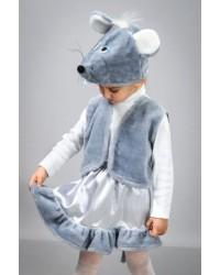 Детский карнавальный костюм Мышка атлас