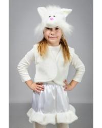Детский карнавальный костюм Кошка атлас