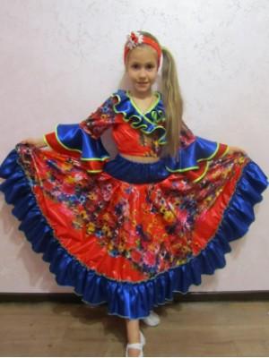 Карнавальный костюм Цыганочки цветной