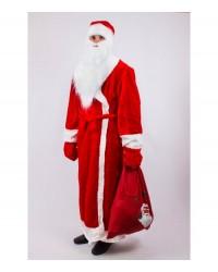 Карнавальный костюм Дед Мороз (взрослый) красный
