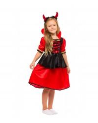 Карнавальный костюм Дьяволица, Чертик для девочки, Вампирша