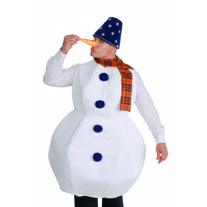 Как сделать костюм снеговика для взрослого своими руками