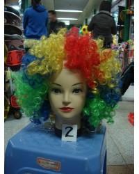 Парик Клоуна цветной, кучерявый
