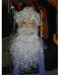 Парик Деда Мороза с бородой