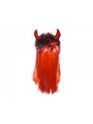 Парик Чертенка красный с рожками