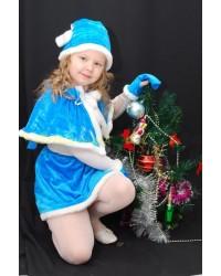 Костюм Снегурочка Гномик Внучка Деда Мороза (голубой)