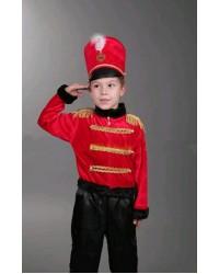 Костюм Гусара Оловяный солдатик  (черный)