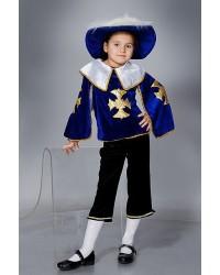 Детский карнавальный костюм Мушкетер (синий)
