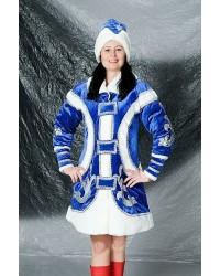 Карнавальный костюм Снегурочка Молодежная синяя