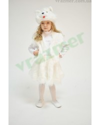 Карнавальный костюм Кошечка Кошки Котенок (белый)