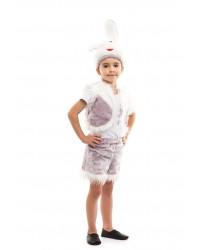 Карнавальный костюм Заяц Зайца Зайчиха Зайчонок (серый)