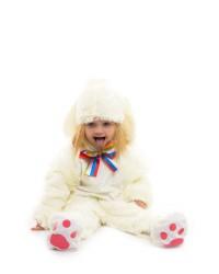 Карнавальный костюм Зайчик Малыш белый