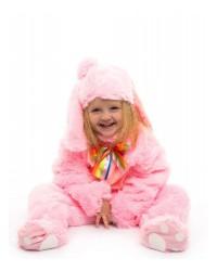 Карнавальный костюм Зайчик Малыш розовый