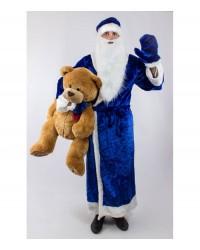 Карнавальный костюм Дед Мороз (взрослый) синий