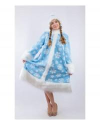 Карнавальный костюм Снегурочка Снегурка со снежинками